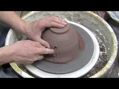 Danielle ~ The Clay Lady - Pottery Trimming Tutorial Pottery Mugs, Ceramic Pottery, Pottery Art, Ceramic Techniques, Pottery Techniques, Ceramic Tools, Ceramic Clay, Advanced Ceramics, Pottery Videos