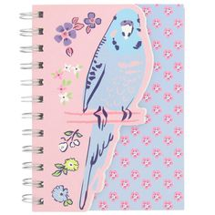 budgerigaga A6 die cut notebook from Paperchase