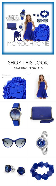 """""""BLUE Story"""" by edo123 ❤ liked on Polyvore featuring Urban Decay, LULUS, Boum, Kate Spade, Alexander McQueen, RenéSim, Bling Jewelry and John Lewis"""