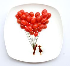 Creative food by Hong yi : grape tomatoes, nori weeds, soy sauce