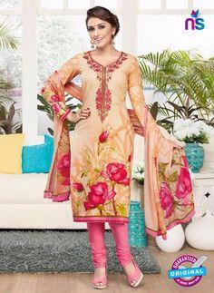 Rakhi 4438B Peach and Pink Lawn Designer Suit