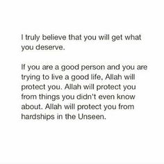 Allah always protects us. Wel Neam Be Allah One Word Quotes, Reminder Quotes, Faith Quotes, True Quotes, Wisdom Quotes, Quotes Quotes, Allah Quotes, Muslim Quotes, Religious Quotes