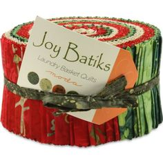 Moda Joy Batiks Jelly Roll, Set of 40 2.5x44-inch (6.4x112cm) Precut Cotton Fabric Strips - http://needlework.diysupplies.org/quilting/quilting-fabric-assortments/moda-joy-batiks-jelly-roll-set-of-40-2-5x44-inch-6-4x112cm-precut-cotton-fabric-strips/
