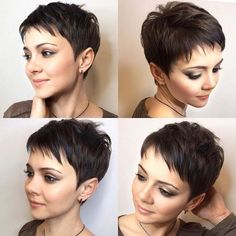 Super Short Hair, Short Grey Hair, Short Hair Cuts For Women, Short Hairstyles For Women, Pixie Haircut For Thick Hair, Short Pixie Haircuts, Pixie Hairstyles, Trendy Haircuts, Short Haircut