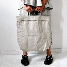 inspiration: to make my own linen grocery bags.