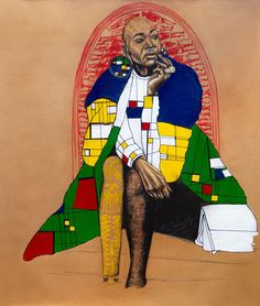 Silas Motse   Ho Ba Matla Ke Ho Itšepa - South African drawing artwork available for sale   StateoftheART African Drawings, Brown Paper, Online Art Gallery, Original Artwork, Artist, Kraft Paper, Artists, Wrapping Papers