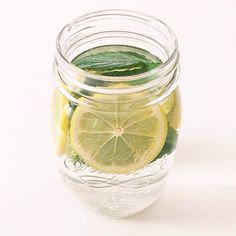 Lemon + mint water