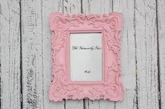 Pink Frame // ornate frame // baroque frame by TheNoteworthyNest