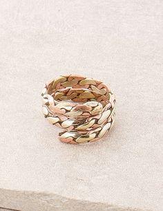 Tri-Metal Tibetan Ring