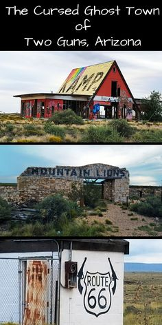 What's a road trip without visiting a ghost town? This abandoned highway stop along historic route 66 is just 30 miles outside of Flagstaff, Arizona. It's said to be cursed, and has a bloody, tumultuous history.