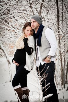 Winter maternity pictures! wwww.elementonestudio.com