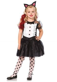 LAC48146 Tuxedo Kitty Fancy Dress Costume #fast #halloween #fancydress #costumes #costumesforkids
