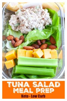 Meal prep made easy with this easy Tuna salad. Great if you are looking for low carb or keto lunch options. Meal prep made easy with this easy Tuna salad. Great if you are looking for low carb or keto lunch options. Low Carb Lunch, Lunch Meal Prep, Healthy Meal Prep, Healthy Foods To Eat, Healthy Snacks, Healthy Eating, Meal Prep Low Carb, Keto Meal, Diabetic Snacks