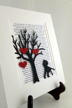 Personalized First Year Anniversary Gift Tree  long by HandmadeHQ, $25.00