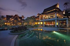Amari Palm Reef Koh Samui   Asia's Best Beach Resort 2011 - At sunset our resort lights up with the colours of modern Asia