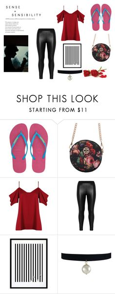 """Untitled #289"" by cj34turtles ❤ liked on Polyvore featuring Havaianas, Boohoo, Zizzi and Eleanor Stuart"