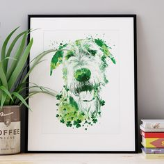 St Patrick's Day Irish Wolfhound poster Irish Wolfhound