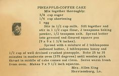 Roots From The Bayou: Family Recipe Friday ~ Pineapple Coffee Cake