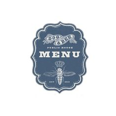 restaurant logo: Dog & Bee Pub Menu Graphic by Howdy, I'm H. Michael Karshis / repinned on Toby Designs