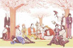 Onion ninjas at work. Manga Art, Manga Anime, Anime Art, Gintama Funny, Samurai, Natsume Yuujinchou, Okikagu, Anime Kunst, What Is Like