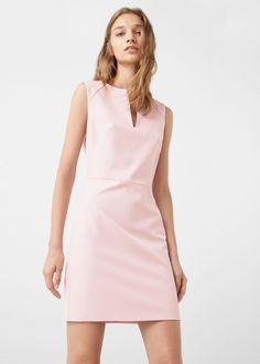 Shift dress - Dresses for Woman Couture Mode, Couture Fashion, Fashion Beauty, Short Dresses, Dresses For Work, Summer Dresses, Vestidos Jumper, 70s Inspired Fashion, Mango France