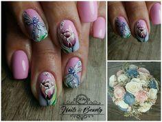 Nail art, #pinknails , #flowernails
