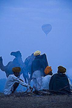 It was a blue day in Pushkar