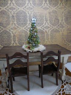 Ooak miniature dollhouse Christmas tree P by Mosswayminiatures