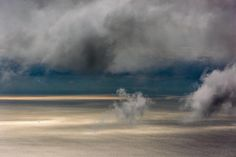 """Photograph of the week: Bill Dewey """"Channel Clouds with Whale"""" photograph 69 in. Stop by the gallery and find the whale. #landscapephotography #channelislands #SantaBarbara #ocean #art #california"""