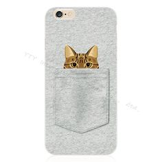 Pattern Crackpot People Cloth Bag Sleep Cat Soft Silicon Cell Phone Cases For Apple iPhone 6 iPhone6 4.7'' Case Shell Cover DWAC