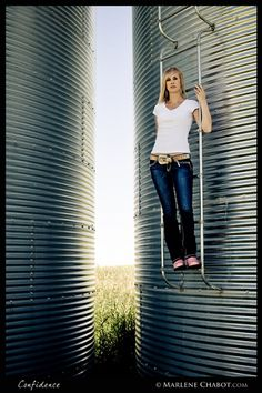 Confidence - MarleneChabot.com -  on the family farm is a great place to take senior pictures