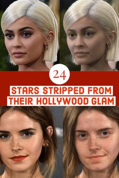 Think the world of the rich and famous is all glamour? From J-Law to the Kardashians, these & natural& stars are gonna shock you. J Law, Die Kardashians, Hollywood, Glamour, Makeup Filter, Natural Hair Styles, Short Hair Styles, Wedding Makeup Tutorial, Celebrities Before And After