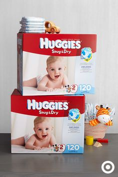 Huggies Snug & Dry diapers provide long-lasting protection with a SnugFit waistband and proven LeakLock Sytem that draws away wetness. Now you can focus on your little one's everyday adventures. Huggies Diapers, Baby Furniture, Baby Time, Baby Registry, Snug, Baby Shower Gifts, Infant, Nursery, Future Children