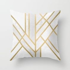 Art Deco Geometry 2 Throw Pillow by Elisabeth Fredriksson - $20.00