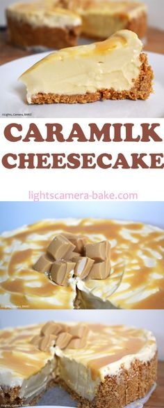 Caramilk Cheesecake is a no bake, creamy cheesecake made with Cadbury Caramilk chocolate for all those Caramilk or caramelised white chocolate lovers out. No Bake Desserts, Baking Desserts, Delicious Desserts, Dessert Recipes, Yummy Food, Baking Recipes, Thermomix Desserts, Baking Ideas, Dessert Ideas