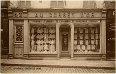 Vintage French Corset Store Photo
