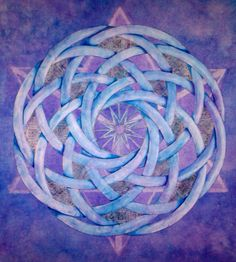 Mandala Art - Sacred Geometry Series - Pen & Ink, Watercolor & Acrylic Painting - by Erin Leigh