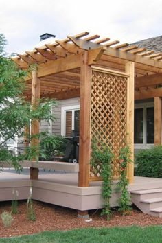 The pergola you choose will probably set the tone for your outdoor living space, so you will want to choose a pergola that matches your personal style as closely as possible. The style and design of your PerGola are based on personal Diy Pergola, Building A Pergola, Pergola Canopy, Metal Pergola, Deck With Pergola, Outdoor Pergola, Pergola Shade, Pergola Lighting, Pergola Roof