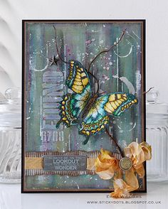 That's Life: Butterfly Beauty created for Simon Says Stamp using products by Tim Holtz and Ranger Ink