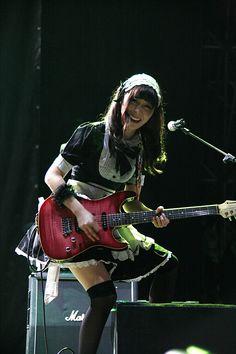 Japanese Girl Band, Japanese Girl Group, These Girls, Bad Girls, Maid Uniform, Women Of Rock, Guitar Girl, Female Guitarist, Beautiful Guitars