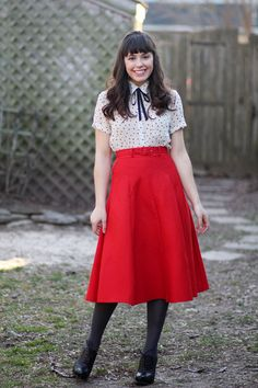 Scarlet Midi Skirt  *I'd edit the tights out and replace lace-up booties with a platform sandals, preferably black, and I'd tie my hair up in a  bun... voila! Manila-friendly spin ^_^