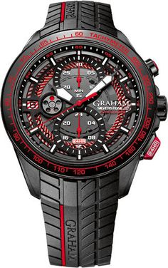 Graham Watch Silverstone RS Endurance Red Limited Edition #basel-15 #bezel-fixed…