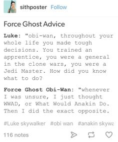Force ghost advice | funny Star Wars | tumblr