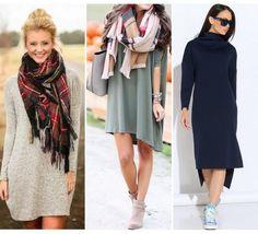 Модные повседневные платья на осень