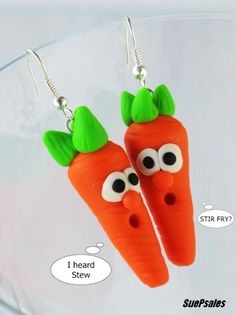 Humorous 2014 Thanksgiving Earrings Polymer Clay Earrings - 2014 Thanksgiving Polymer Clay, miniature food - 2014 Trend alert: marvelous Thanksgiving jewelry crafts by kathycutlan_lad