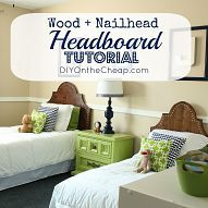 I recently created matching wood + nailhead headboards for my sons' ro… :: Hometalk