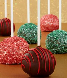 Christmas Chocolate Cake Pops