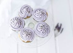 Lavender cupcakes - recipe from Eric Lanlard
