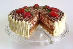 Madly tasty strawberry cake.