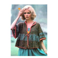 Boho Top Crochet Pattern Womens Smock Jacket Pattern Casual